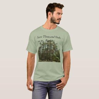 Camiseta Salvar o parque de Thousand Oaks--os falcões e as