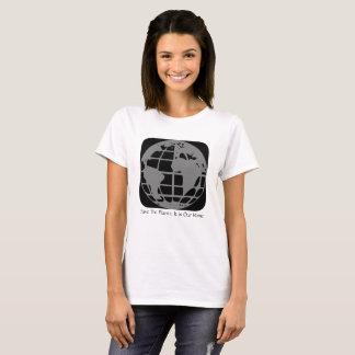 """Camiseta """"Salvar o planeta, este é nosso"""" t-shirt Home"""