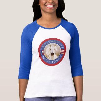 Camiseta Salvar o t-shirt das mulheres novas dos cavalos