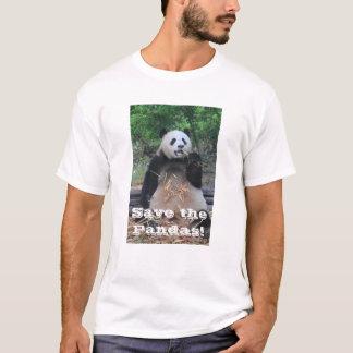 Camiseta Salvar o t-shirt das pandas gigantes