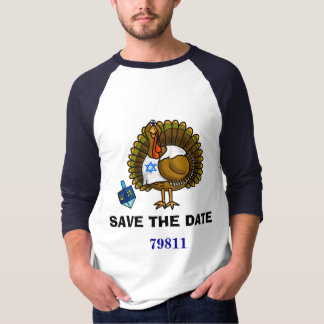 Camiseta Salvar o t-shirt de Thanksgivukkah da data 79811