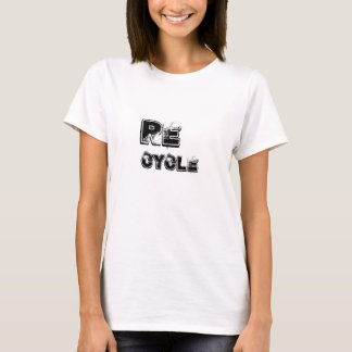 Camiseta SALVAR o time do colégio do reciclar do tshirt da