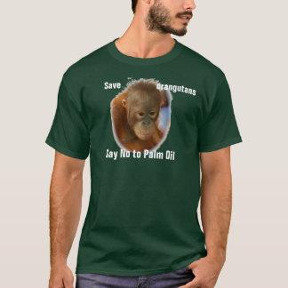 Camiseta Salvar orangotango dizem não ao óleo de palma