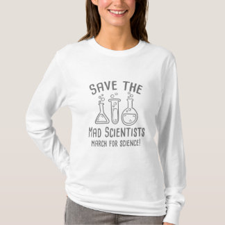 Camiseta Salvar os cientistas loucos
