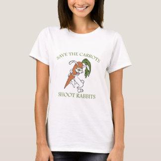 Camiseta Salvar os coelhos do tiro das cenouras