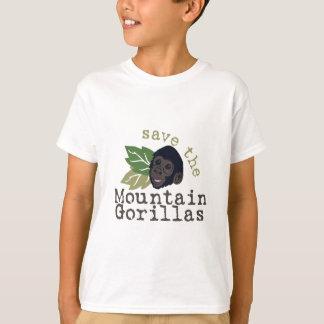 Camiseta Salvar os gorila de montanha