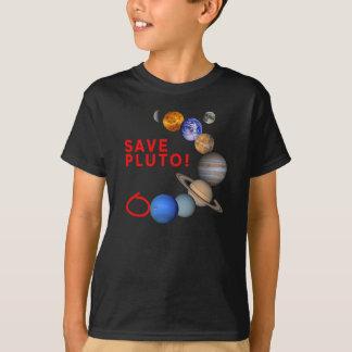 Camiseta Salvar Pluto (o sistema solar)