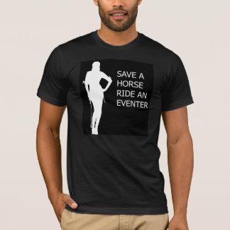 Camiseta Salvar um passeio do cavalo um Eventer