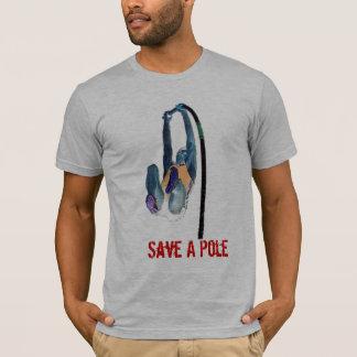 Camiseta Salvar um pólo, monte um vaulter