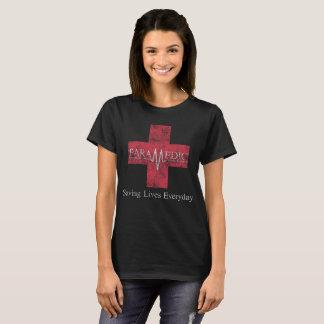 Camiseta Salvares vidas EMT diário EMS do paramédico
