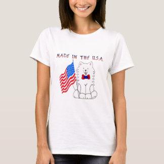 Camiseta Samoyed feito no t-shirt dos EUA