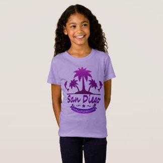 Camiseta San Diego, golfinhos de CA com palmeiras