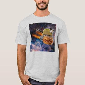 Camiseta Sanduíche Rocket da equitação do Taco do gato