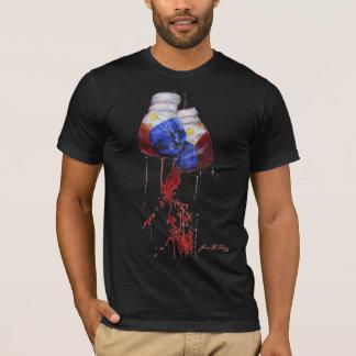 Camiseta Sangue da obscuridade filipina do guerreiro
