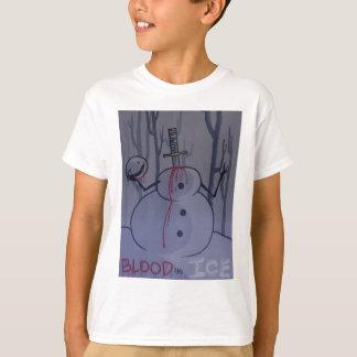 Camiseta sangue e tshirt desgin1 do gelo