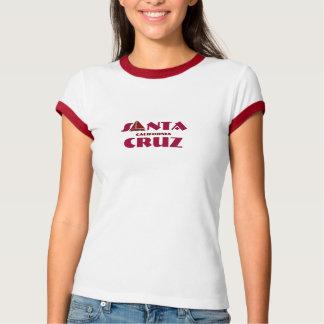 Camiseta Santa Cruz, Califórnia - com ícone vermelho do
