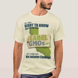 Camiseta Santa Cruz GMO-Livre, GMOs não experimentados, sem