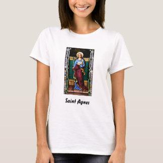 Camiseta Santo Agnes (Agnes de Roma) - arte do vitral