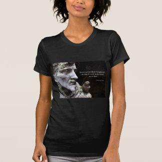 Camiseta Santo Francisco de Assis e citações do pássaro