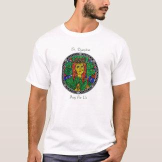 Camiseta Santo padroeiro da rua Dymphna da depressão e da