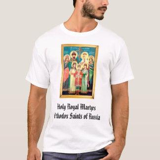 Camiseta Santos ortodoxos dos mártir reais santamente de…