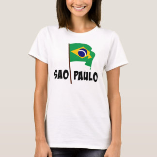 Camiseta Sao Paulo, bandeira de Brasil