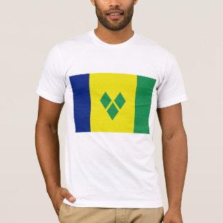 Camiseta São Vicente & a bandeira dos Grenadines