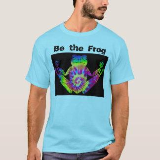 Camiseta Sapo do zen da tintura do laço