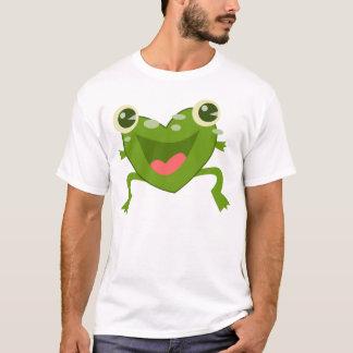 Camiseta Sapo dos corações dos desenhos animados