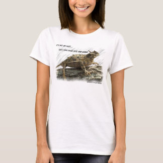 Camiseta Sapo Horny do lagarto Horned de Texas