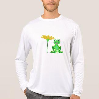 Camiseta sapo pequeno e flor amarela