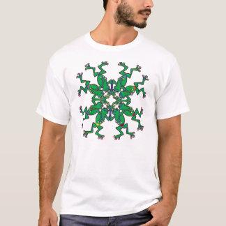 Camiseta sapos que fazem a natação sincronizada