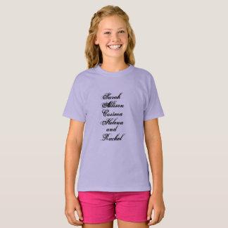 Camiseta Sarah Allison Cosima Helena e Rachel do órfão