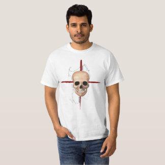 Camiseta Sardinia, t-shirt transversal do crânio (branco)