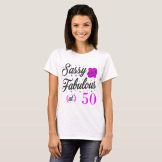 CAMISETA SASSY E FABULOSO EM 50