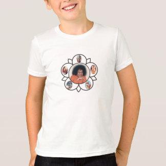 Camiseta Sathya Sai Baba Sarva Dharma Symbo em miúdos do