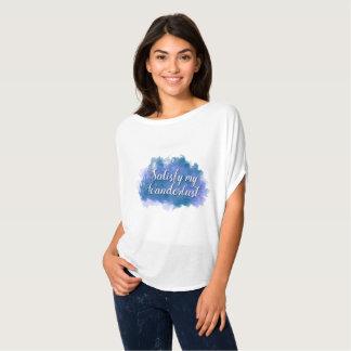 Camiseta Satisfaça meu Wanderlust