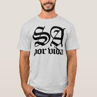 Camiseta SATX POR VIDA 210 para o preto inglês velho da