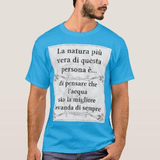 Camiseta Saudação do vita do acqua do bere de vera do più