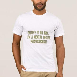 Camiseta Saúde mental Profissional-Psych. Humor da