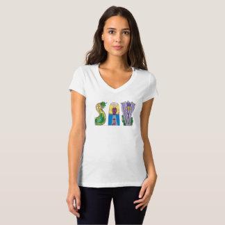 Camiseta SAVANA do t-shirt   das mulheres, GA (SAV)