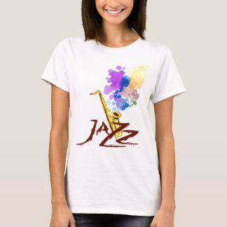 Camiseta Saxofone do jazz