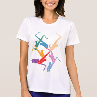 Camiseta Saxofones coloridos