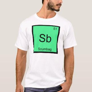Camiseta Sb - T engraçado do símbolo do elemento da química