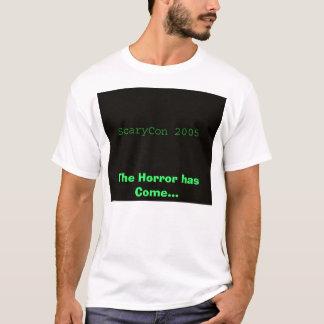 Camiseta ScaryCon 2005, o horror veio…