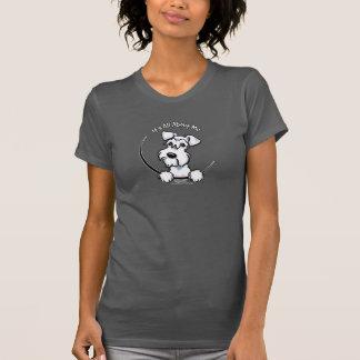 Camiseta Schnauzer branco IAAM mini