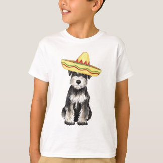 Camiseta Schnauzer diminuto da festa