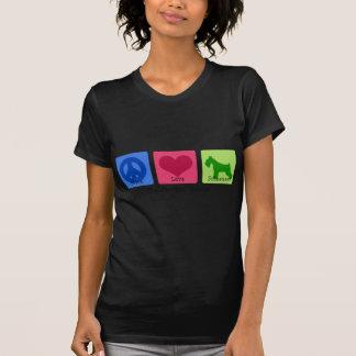 Camiseta Schnauzer do amor da paz