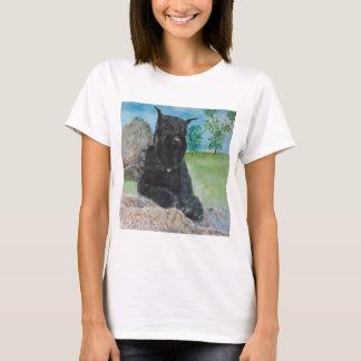 Camiseta Schnauzer gigante preto