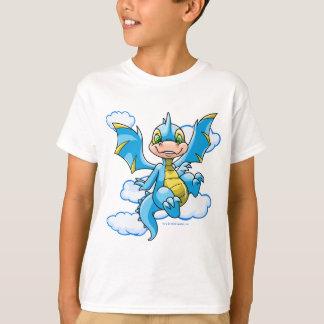 Camiseta Scorchio azul com sua cabeça nas nuvens
